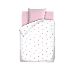 """Комплект детского постельного белья на резинке """"Коронки"""", бязь, Непоседа, розовый"""