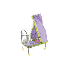 """Кроватка для куклы с балдахином """"Бабочки"""", 47*27*76 см, Mary Poppins"""