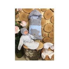 Комплект на выписку 6 пред., GulSara, 81 весна-осень велюр серый голубой