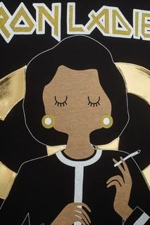 Хлопковая футболка Iron Ladies Nil&Mon