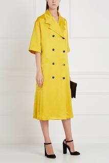 Однотонное пальто Victoria Beckham