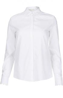 Хлопковая блуза прямого кроя с кружевной отделкой Maje