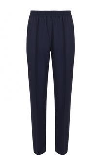 Шерстяные брюки прямого кроя с поясом на резинке MSGM