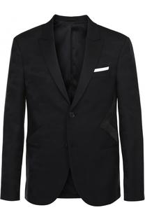 Шерстяной однобортный пиджак с отделкой Neil Barrett