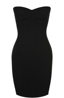 Платье-бюстье фактурной вязки Herve L.Leroux