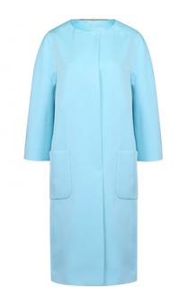 Пальто с накладными карманами и укороченным рукавом Escada