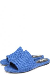 Плетеные сабо из текстиля Balenciaga