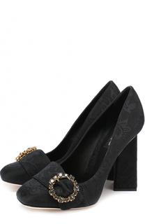 Туфли Jackie из текстиля на геометричном каблуке Dolce & Gabbana