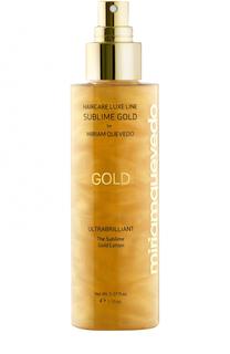 Золотой спрей-лосьон для ультра блеска волос Miriamquevedo