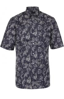 Хлопковая рубашка с короткими рукавами Lanvin