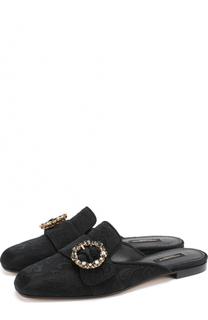 Сабо из текстиля с пряжкой Dolce & Gabbana