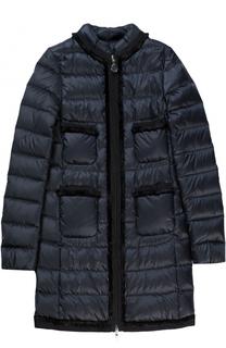 Пуховое пальто на молнии Moncler Enfant