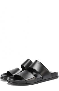 Кожаные сандалии с широкими ремешками Saint Laurent