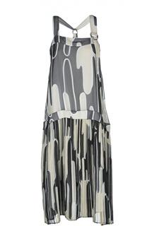 Платье с заниженной талией и плиссированной юбкой Kenzo