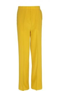 Шелковые прямые брюки со стрелками Rochas