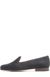 Бархатные лоферы на устойчивом каблуке Stubbs&Wootton Stubbs&Wootton