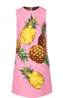 Мини-платье А-силуэта с ярким принтом Dolce & Gabbana