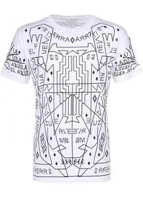 Хлопковая футболка с контрастным принтом Marcelo Burlon