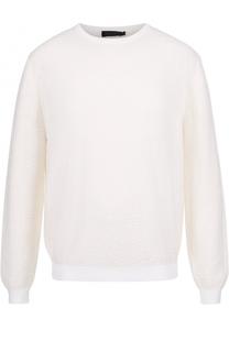 Шерстяной джемпер фактурной вязки Calvin Klein Collection