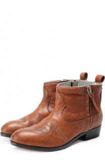 Кожаные ботинки с прострочкой Golden Goose