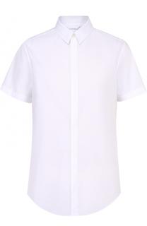 Хлопковая рубашка с короткими рукавами и контрастным принтом на спинке Iceberg