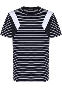 Хлопковая футболка в контрастную полоску Neil Barrett