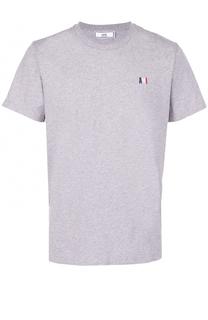 Хлопковая футболка с круглым вырезом Ami