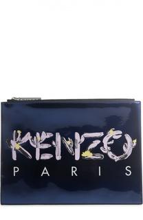 Клатч на молнии с логотипом бренда Kenzo
