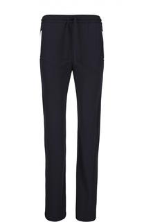 Прямые брюки с контрастной отделкой карманов Armani Collezioni