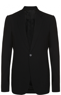 Однобортный пиджак из смеси вискозы и шерсти Rick Owens