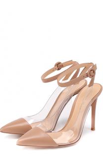Кожаные туфли Plexi с ремешком на щиколотке Gianvito Rossi