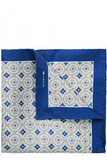 Шелковый платок с узором Kiton