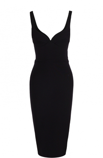 Платье-футляр без рукавов с открытой спиной Victoria Beckham