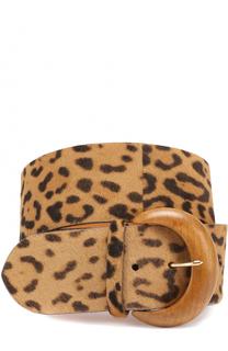 Кожаный ремень с принтом Ralph Lauren