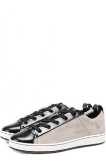 Комбинированные кеды Brayde на шнуровке DKNY