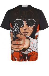 Хлопковая футболка с принтом Christopher Kane