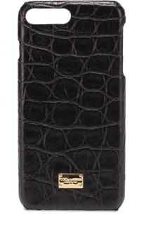 Чехол для iPhone 7 Plus из кожи крокодила Dolce & Gabbana