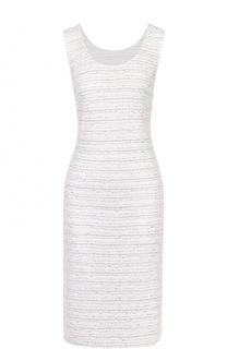 Буклированное платье-миди без рукавов St. John