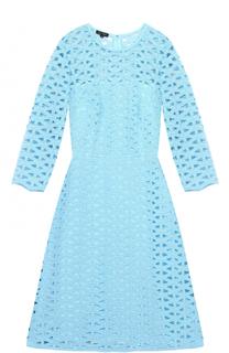 Приталенное платье-миди с укороченным рукавом Escada