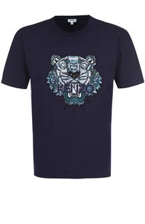 Хлопковая футболка с контрастной аппликацией Kenzo