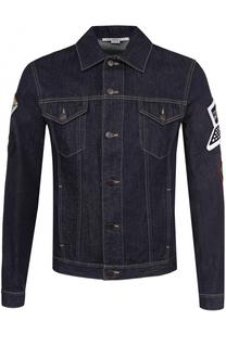 Джинсовая куртка на пуговицах с контрастной отделкой Stella McCartney