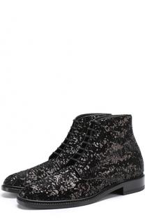 Ботинки Lolita из текстиля с пайетками Saint Laurent