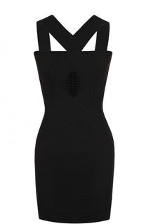 Платье-футляр фактурной вязки с декоративным разрезом Herve L.Leroux