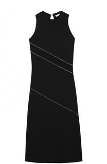 Платье-миди без рукавов с контрастной отделкой цепью Nina Ricci
