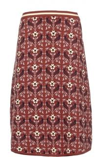 Хлопковая вязаная юбка А-силуэта Tak.Ori