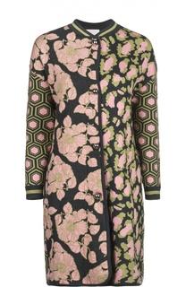 Вязаное пальто-кардиган с контрастным принтом Tak.Ori
