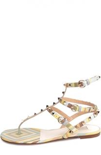 Кожаные сандалии Rockstud Navajo с ремешками Valentino