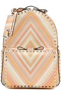 Кожаный рюкзак с принтом Native Couture 1975 Valentino