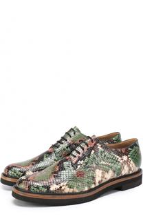 Кожаные ботинки с тиснением Dries Van Noten