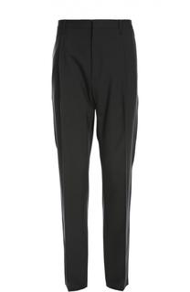 Шерстяные брюки прямого кроя и заниженной линией шага Lanvin Contemporary
